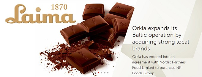 Laima Chocolates. Eaten by Orkla.