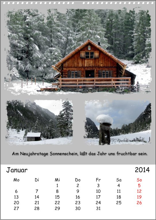 Vacation in Lungau, January