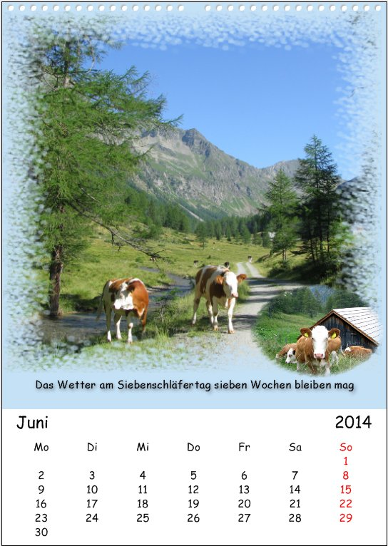 Vacation in Lungau, June