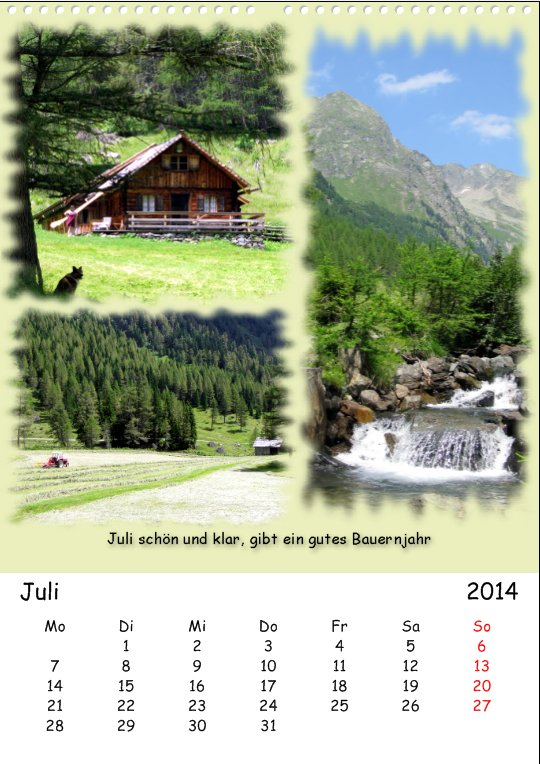 Vacation in Lungau, July