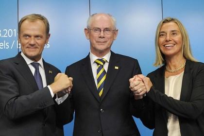 New EU. Starring Donald Tusk, Herman Van Rompuy, Federica Mogherini