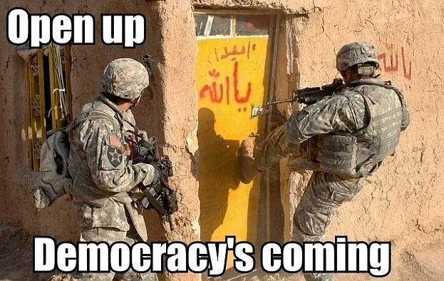 Open Up!.. Democracy is here!..