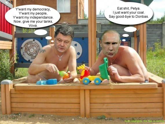 Poroshenko + Putin