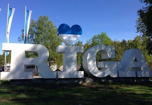Riga Sign; Heart Flag