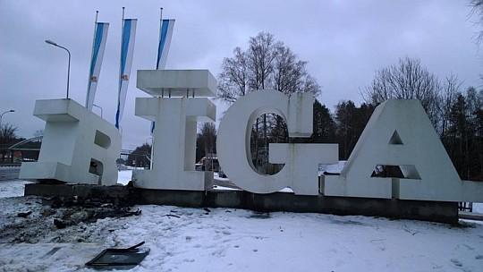 Riga Sign Damaged
