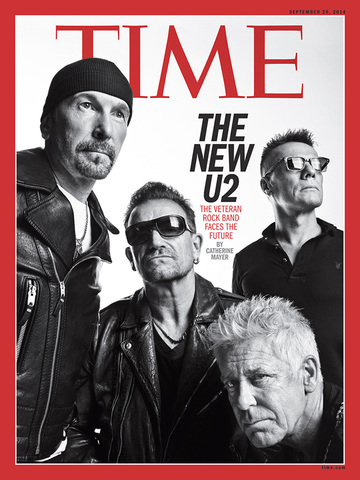 U2 on the Time cover, Sep-18