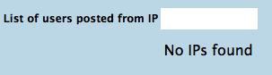 No IPs Found
