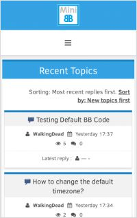 index screenshot of JiNx Template - mobile view