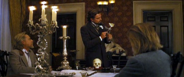 The scene from `Django Unchained`: phrenology lesson