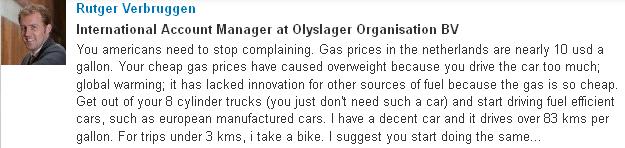Verbrugger`s Comment on LinkedIn