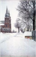 Rezekne in Retro. Winter picture made by Smena 8M