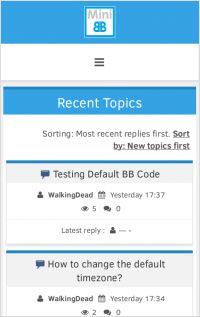 index screenshot of JiNx Template - mobile view